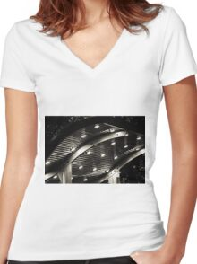 Bus Stop Women's Fitted V-Neck T-Shirt