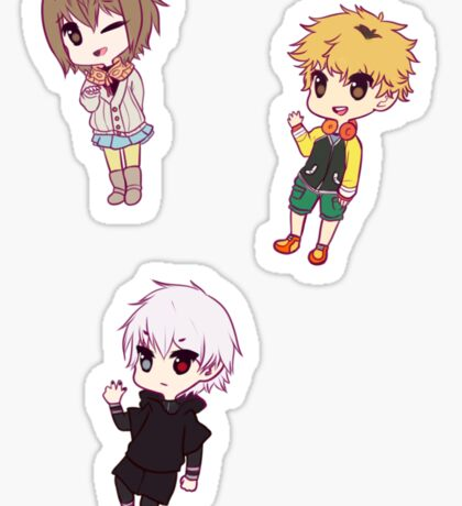 Tokyo Ghoul Chibi Character Stickers - Part 3 Sticker