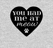 You Had Me At Meow - Black Womens Fitted T-Shirt