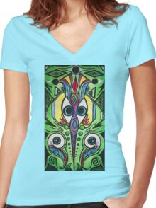 Electrically Aware Women's Fitted V-Neck T-Shirt