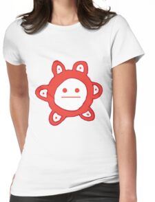 Taino Sun Poker Face Womens Fitted T-Shirt