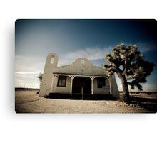 Mojave Desert Church Canvas Print