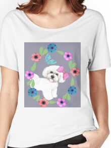 Bichons and Butterflies Women's Relaxed Fit T-Shirt