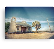 Mojave Desert Church Metal Print