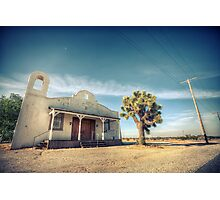 Mojave Desert Church Photographic Print