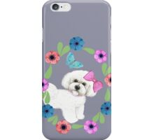 Bichons and Butterflies iPhone Case/Skin