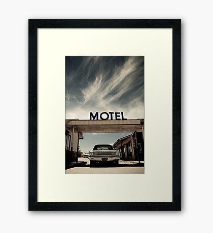 Mojave Desert Motel Framed Print