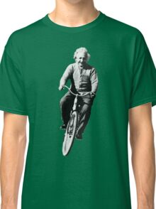 Einstein Riding Bicycle In Space Classic T-Shirt