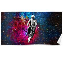 Einstein Riding Bicycle In Space Poster