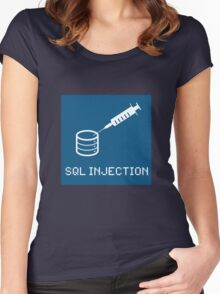SQL Injection Women's Fitted Scoop T-Shirt