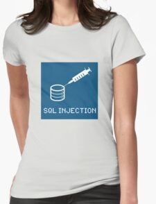 SQL Injection Womens Fitted T-Shirt