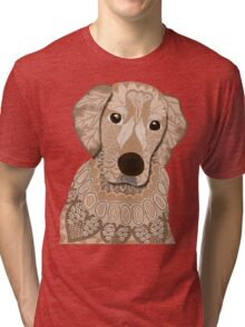 Golden Retriever 01 Tri-blend T-Shirt