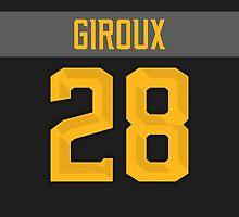 Philadelphia Flyers Claude Giroux NHL All-Star Black Jersey Back Phone Case by Russ Jericho