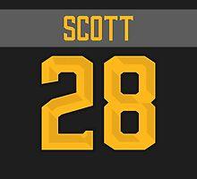 Arizona Coyotes John Scott NHL All-Star Black Jersey Back Phone Case by Russ Jericho