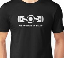 Subaru My World is Flat (white) Unisex T-Shirt