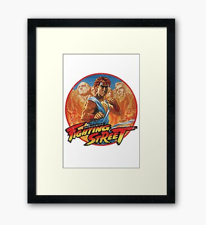 Fighting Street Framed Print