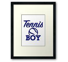 Tennis boy Framed Print