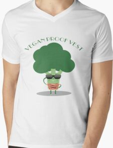 Vegan Proof Vest  Mens V-Neck T-Shirt