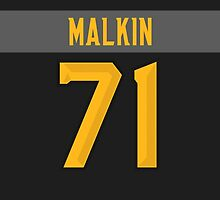 Pittsburgh Penguins Evgeni Malkin NHL All-Star Black Jersey Back Phone Case by Russ Jericho