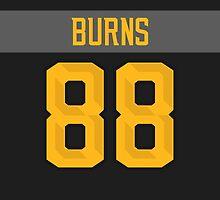 San Jose Sharks Brent Burns NHL All-Star Black Jersey Back Phone Case by Russ Jericho