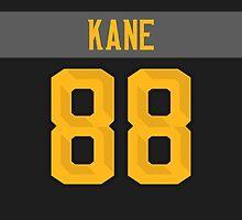 Chicago Blackhawks Patrick Kane NHL All-Star Black Jersey Back Phone Case by Russ Jericho