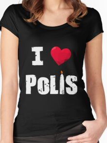 The 100 - I Love Polis Women's Fitted Scoop T-Shirt