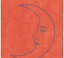 La Luna - Tarot Card in Red by TexasBarFight