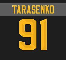 St. Louis Blues Vladimir Tarasenko NHL All-Star Black Jersey Back Phone Case by Russ Jericho
