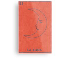 La Luna - Tarot Card in Red Metal Print