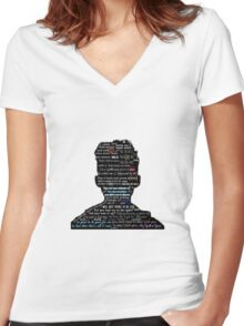 Troye Sivan lyric compliation Women's Fitted V-Neck T-Shirt