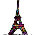 Colorful Paris Eiffel Tower by pda1986