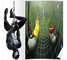 spiderman and larva Poster