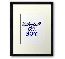 Volleyball boy Framed Print