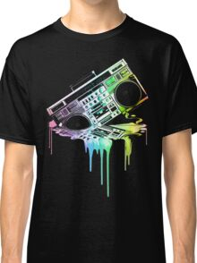 Melting Boombox (vintage distressed look) Classic T-Shirt