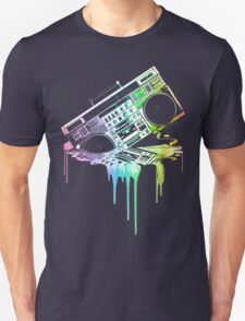 Melting Boombox (vintage distressed look) Unisex T-Shirt