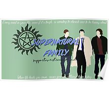 Supernatural Family Poster