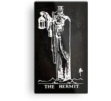 Tarot - The Hermit - Black Metal Print