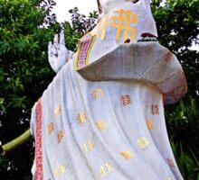 White Guan Yin Statue Sticker