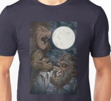 Three Wolfman Moon Unisex T-Shirt