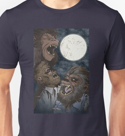 Three Wolfman Moon Unisex T-Shirt