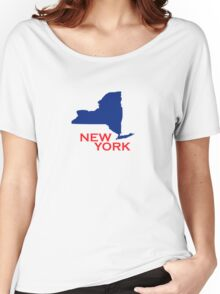 New York State Outline Women's Relaxed Fit T-Shirt
