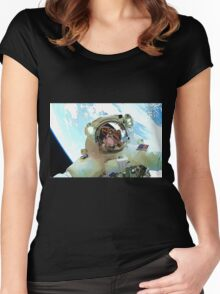 Space Walk - Astronaut Selfie Women's Fitted Scoop T-Shirt