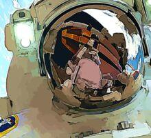 Space Walk - Astronaut Selfie Sticker