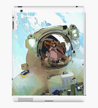 Space Walk - Astronaut Selfie iPad Case/Skin