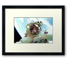 Space Walk - Astronaut Selfie Framed Print