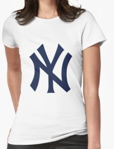 New York Yankees Logo Womens Fitted T-Shirt