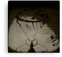 sigara içen kurbaga Canvas Print