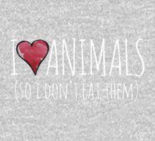 I love animals so I don't eat them Kids Clothes
