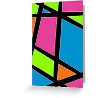 Geometric Colours Greeting Card