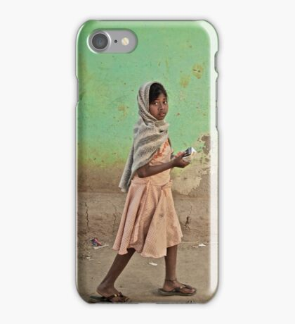 A Girl by a Door iPhone Case/Skin
